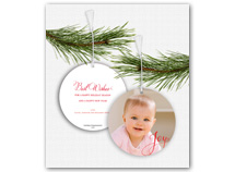 Joy Photo Ornament Christmas Cards